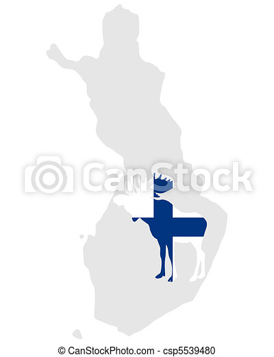 Finnish moose - csp5539480