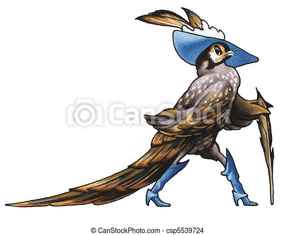 Pheasants Clip Art Line Drawings