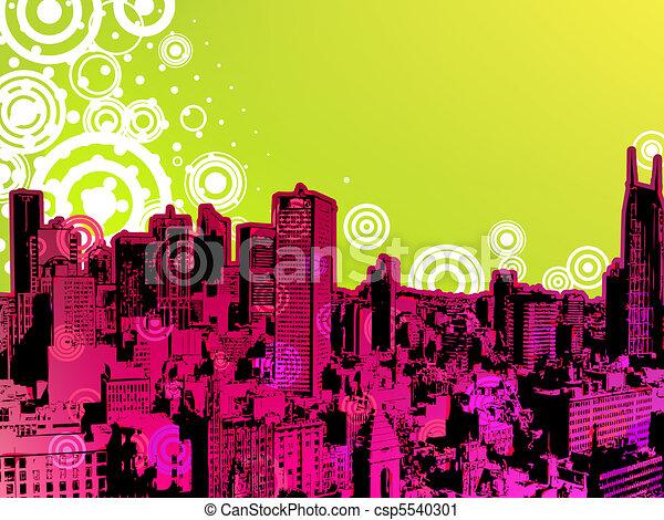 Urban Trendy Poster. EPS 8 - csp5540301