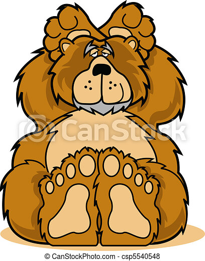 Cute cartoon bear relaxing clip art - csp5540548