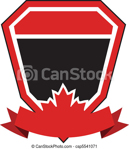 Maple Leaf Crest / Coat of arms - csp5541071