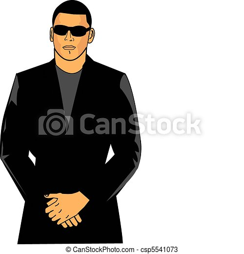 Bouncer in suit - csp5541073