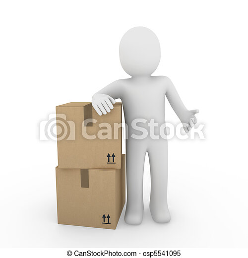 3d human shipping package - csp5541095