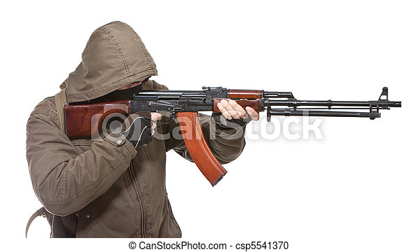 Terrorist with weapon - csp5541370