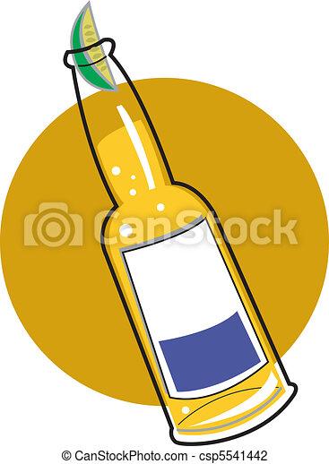 啤酒, 瓶子, 夹子, 艺术 - csp5541442图片