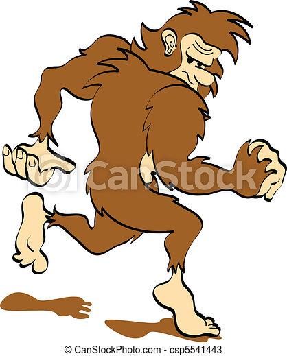 Bigfoot or Sasquatch Clip Art - csp5541443