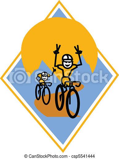 Bikers racing clip art - csp5541444