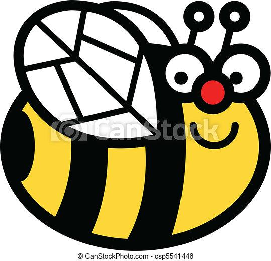 矢量-bumblebee, 艺术, 卡通漫画, 夹子, 开心