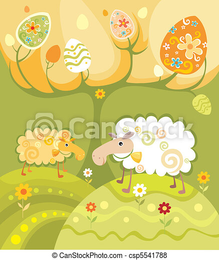 easter card - csp5541788