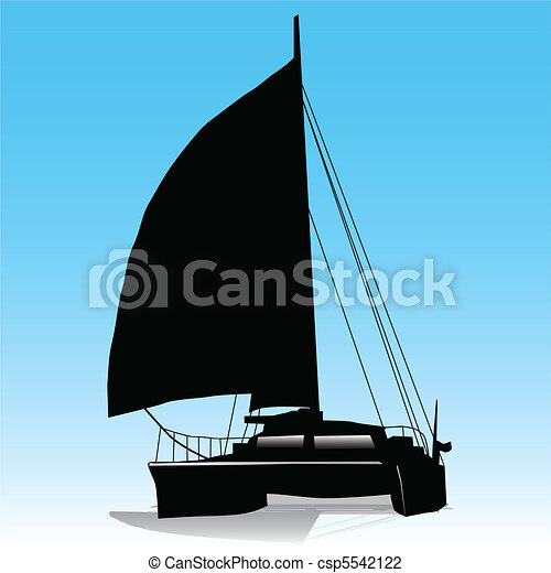 Sailing Catamaran - csp5542122