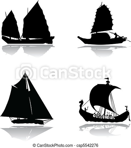 Ships with sails - csp5542276