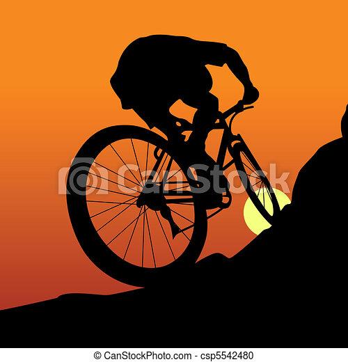 Cyclist - csp5542480