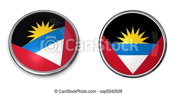 Banner Button Antigua And Barbuda - csp5542938