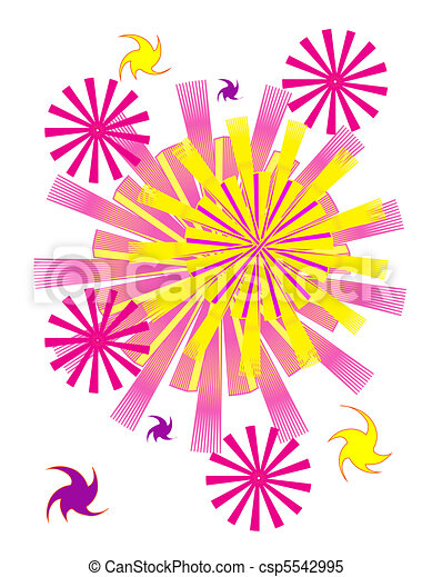 Vector colorful fireworks - csp5542995