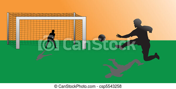 footbal player in action - csp5543258