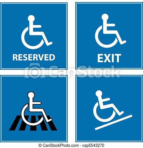 handicap blue signs - csp5543270