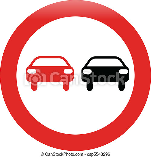 no passing traffic shiny sign - csp5543296