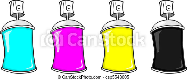 cmyk spray cans - csp5543605