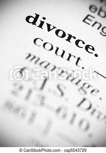 Dictionary Word Divorce - csp5543729