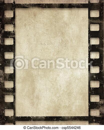 grunge film background  - csp5544246
