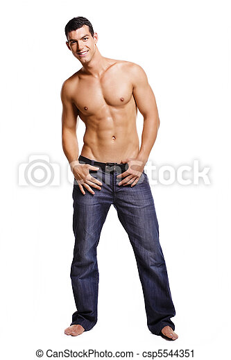 Healthy muscular young man - csp5544351