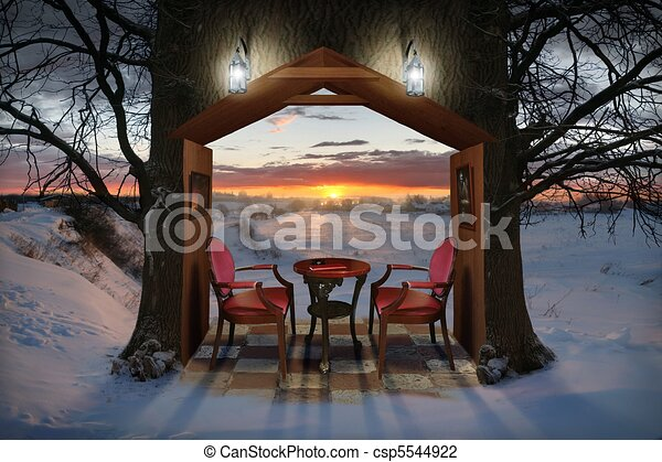 Winter Evening - csp5544922