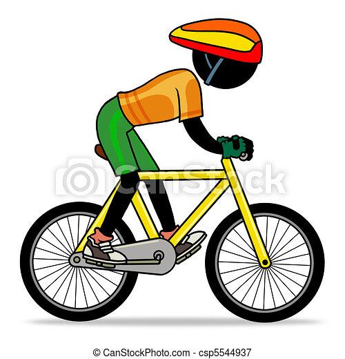 Stock de ilustraciones de biking - caricatura, deporte, acción, icono ...