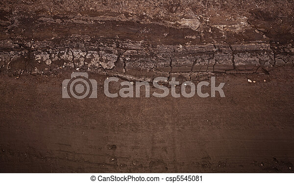 Underground soil layers - csp5545081