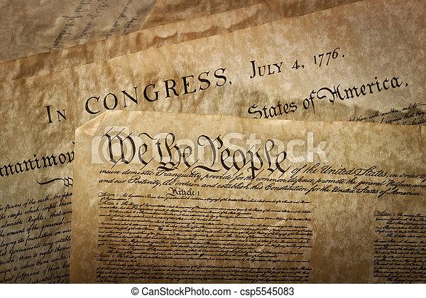 Close-up of the U.S. Constitution - csp5545083