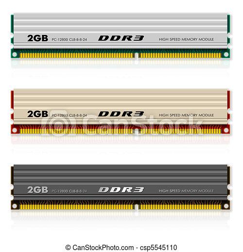 Set of DDR3 memory modules - csp5545110
