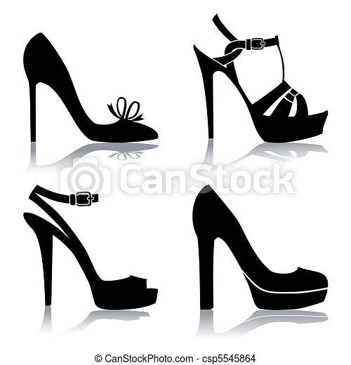 Vecteur , chaussures, collection