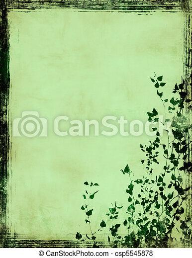 grunge foliage frame - csp5545878