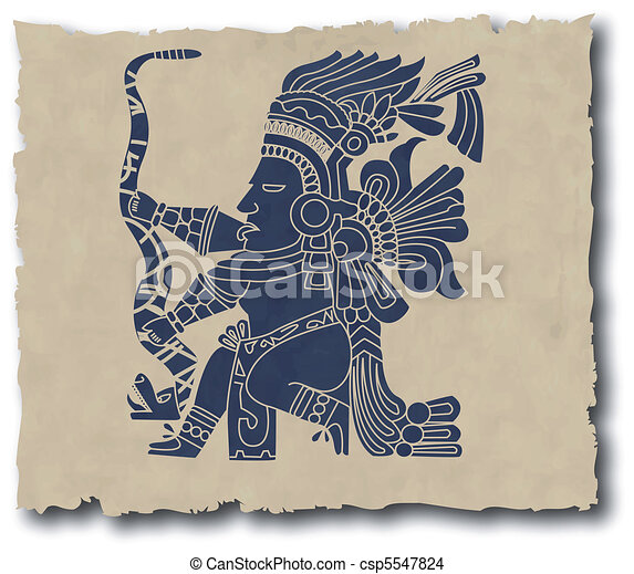 the vector mayan and inca tribal - csp5547824
