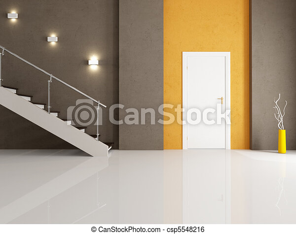 minimalist home entrance - csp5548216