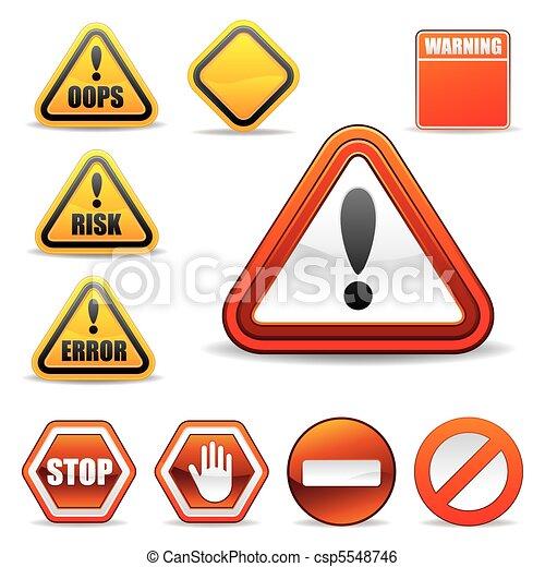 warning sign - csp5548746