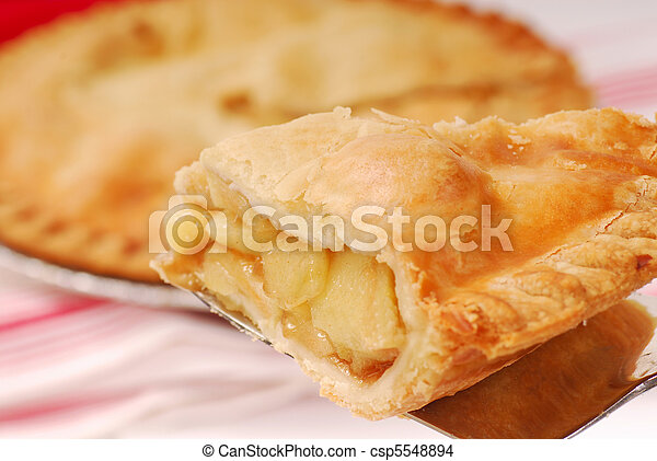 Slice of apple pie - csp5548894