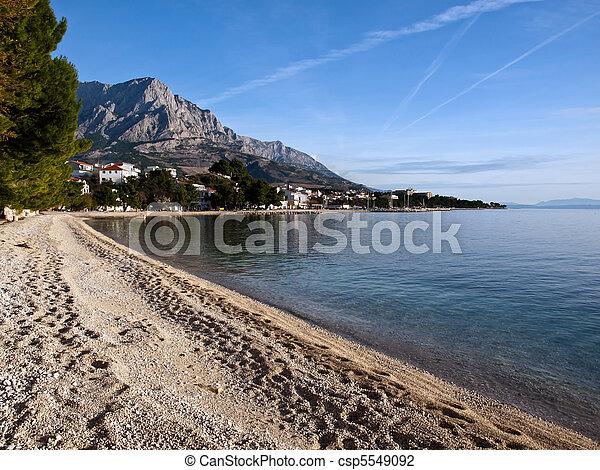 View at small town in Dalmatia - csp5549092