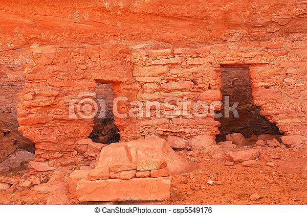 Ancient Navajo Anasazi dwelling - csp5549176