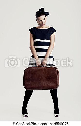 Fashion woman posing - csp5549376