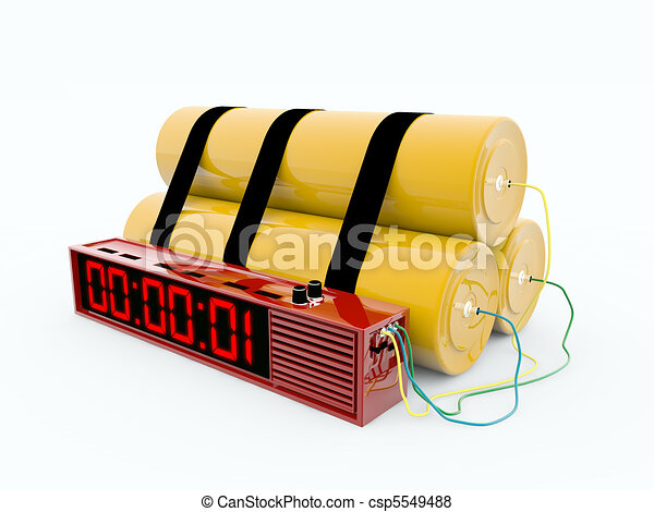 bomb with digital timer - csp5549488