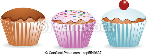 yummy cup cakes - csp5549637
