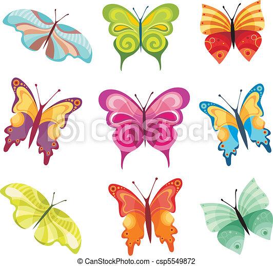 papillon, ensemble - csp5549872