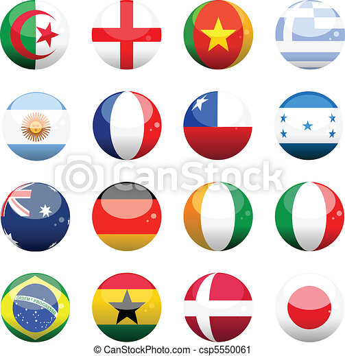 world cup nation flag spheres - csp5550061