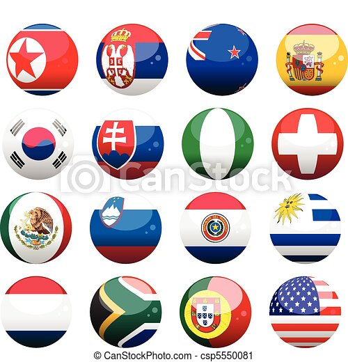 world cup nation flag spheres2 - csp5550081