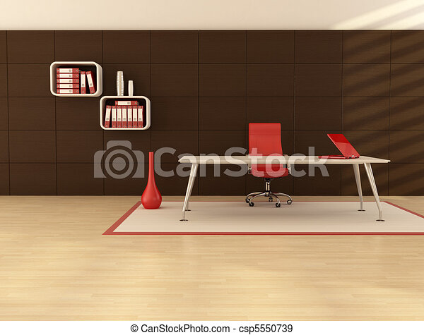 minimal office space - csp5550739