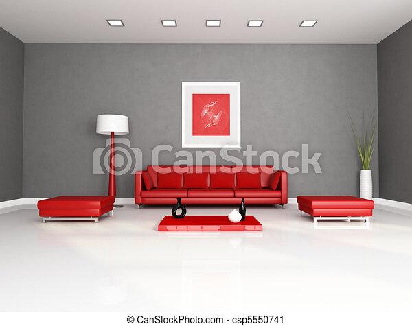 Clipart van rood grijs levend kamer rood grijs minimalist csp5550741 zoek naar clip - Kamer in rood en grijs ...