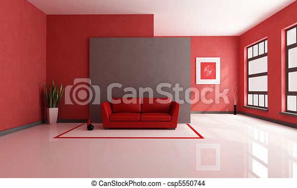red and brown lounge - csp5550744