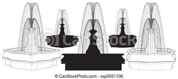 Classic Fountain - csp5551106