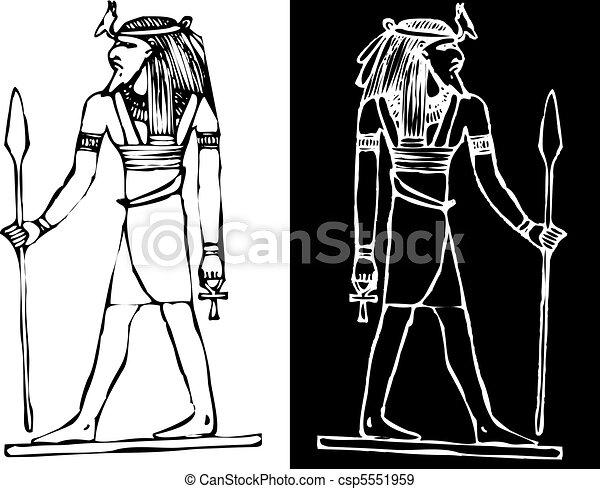 Egyptian Headdress Drawing Vector Egypt God of War