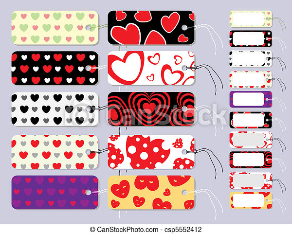 Set of Gift Tags Tied With String - csp5552412